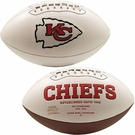 Len Dawson - Autographed Kansas City Chiefs Full Size Logo Football