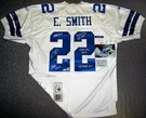 Emmitt Smith - Autographed Dallas Cowboys Blue Reebok Official Jersey