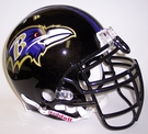 Baltimore Ravens Riddell Authentic NFL Full Size On Field Proline Football Helmet - Ray Lewis Mask