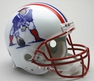 New England Patriots 1990-1992 Throwback Riddell Authentic NFL Full Size On Field Proline Football Helmet