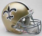 New Orleans Saints 1976-1999 Throwback Riddell Authentic NFL Full Size On Field Proline Football Helmet