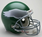 Philadelphia Eagles 1974-1995 Throwback Riddell Authentic NFL Full Size On Field Proline Football Helmet