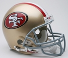 San Francisco 49ers Riddell Authentic NFL Full Size On Field Proline Football Helmet