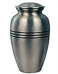 Classic Pewter Cremation Urn<BR>Starting at $40.00