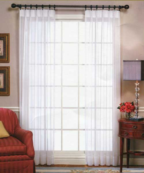 Pinch Pleated Sheers & Drapery - Fire Retardant | The Curtain Shop