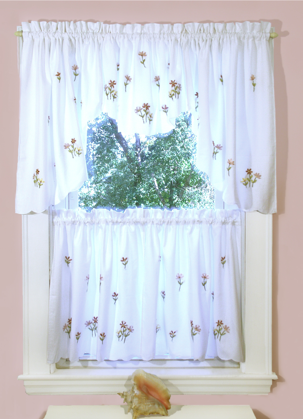 Briar Rose Shower Curtain And Window Curtain