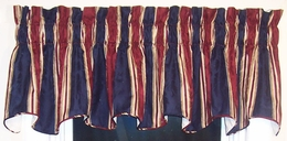 "100"" Cambridge Valance Capulet Stripe - Waverly - CLEARANCE - QUANTITY: ONE"