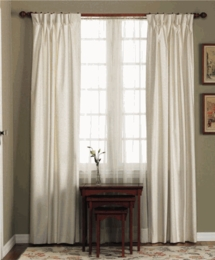 48 x 84 Pinch Pleat Drapery (10 pleats)- - Fireside Natural, Sage, Blue