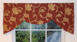 Cavalier 3 pc. Valance - Samantha Brick - CLEARANCE