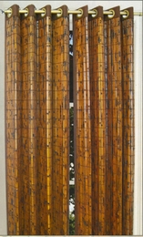 42 x 63 Grommet Window Panel - Tortoise Shell Bamboo