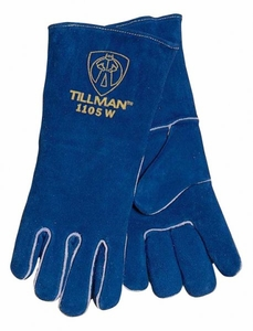 "Tillman Welding Gloves - ""Small Hands"" Blue Cowhide 1105W"