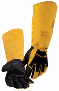 BSX Welding Gloves - Black & Tan 21 Inch BS99
