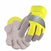 Black Stallion Cowhide Work Gloves - Hi Vis Lime 5B-LIM