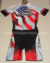 "USA  ""Flag""  Roller Blade Skating Suit        S   Blow Out!!"