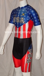 "USA ""Retro"" Stars & Stripes Skinsuit    S   Last One!!"
