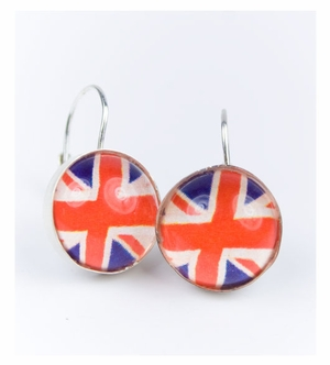 union jack earrings