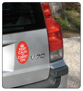 Keep Calm and Carry On Bumper Stickers & More