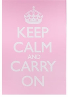 Keep Calm and Carry On Poster Pink