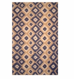 Accent Rugs Ikat Blue