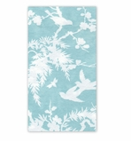 Hand Towels for Weddings Turquoise White 30 Pc