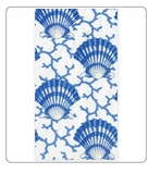 Paper Hand Towels Shells Blue 30 Pc
