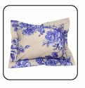 Travel Neck Pillow - Blue Flowers