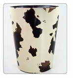 Wastebasket Animal Print - Brown