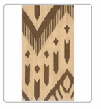 Paper Hand Towels Ikat Beige/Brown 30 Pc