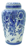 Royal Delft 20cm Jar with Lid