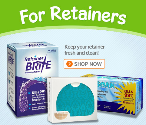 Retainer Brite� Cleaning Tablets. Keep Dental Appliances Sparkling Clean. See Our FREE SHIPPING offer and our Retainer Brite coupons!