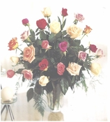 2 Dozen long stem Roses beauties - Designs East Florist Dallas
