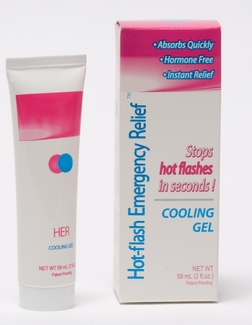 Hot-flash Emergency Relief Cooling Gel 2oz.