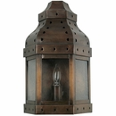 Aged Tin 3-Sided Mexican Wall Sconce