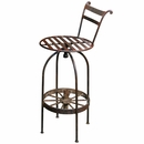 Wrought Iron Wagon Wheel Bar Stools
