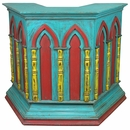 Painted Wood Pulpit or Maitre �D Stand