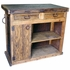 Rustic Wooden Bar with Wrought Iron