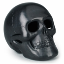 Large Black Clay Skull