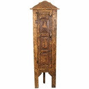 Rustic Old Wood Corner Cabinet on Legs