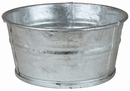 Galvanized Tin Basin - No Handles