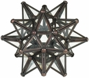 Tin & Clear Glass Star Candleholder