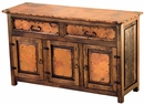 Francisco Buffet - Copper and Rustic Wood