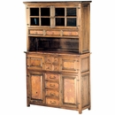 Francisco 4 Door 8 Drawer Credenza with Hutch