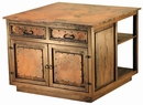 Kitchen Island 2 Door 2 Drawer with Copper