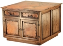 Kitchen Island 4 Door 4 Drawer with Copper