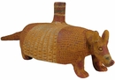 Large Clay Armadillo Candleholder