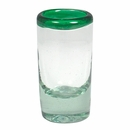 Mexican Green Rimmed Shot Glasses - Set of 4