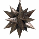 Large Aged Tin Star with Marbles