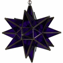 Purple Glass Star Light