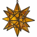 Yellow Glass Star Light
