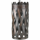 Aged Tin Hanging Crown Light Fixture